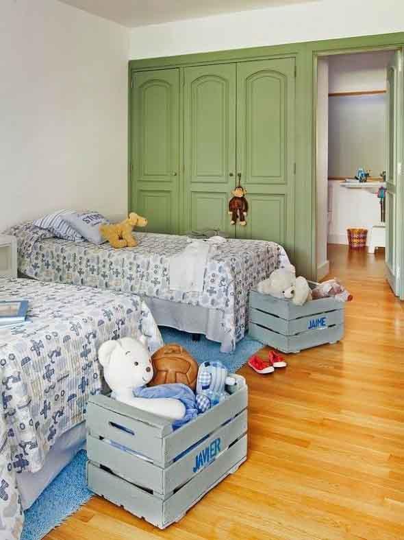Ideias charmosas de decoração com caixotes de feira 007