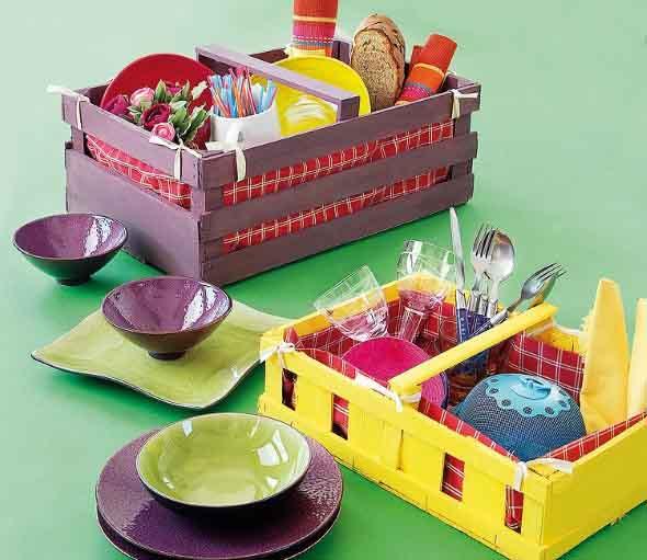 Ideias charmosas de decoração com caixotes de feira 010