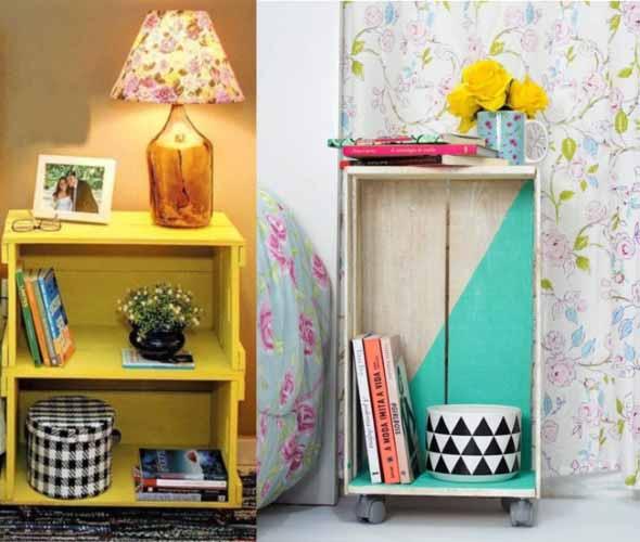 Ideias charmosas de decoração com caixotes de feira 012