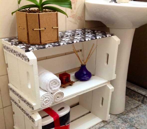 Ideias charmosas de decoração com caixotes de feira 014