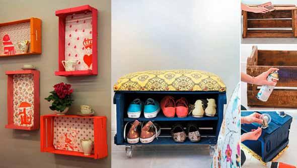 Ideias charmosas de decoração com caixotes de feira 015