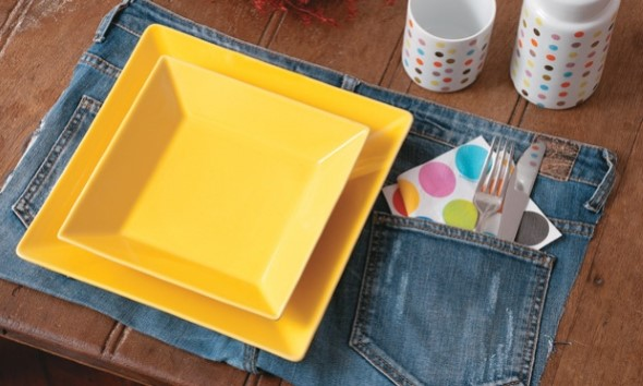 Ideias para reaproveitar jeans usado na decoração 007