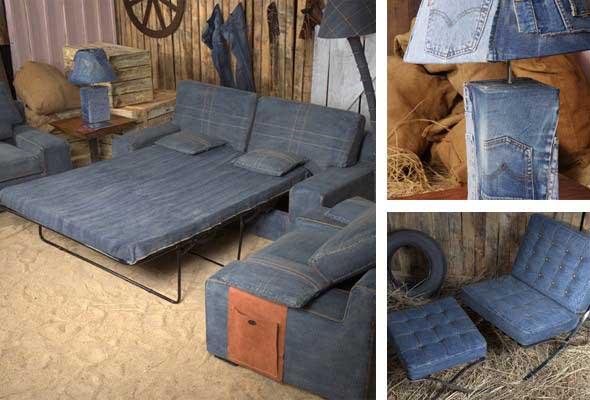 Ideias para reaproveitar jeans usado na decoração 010