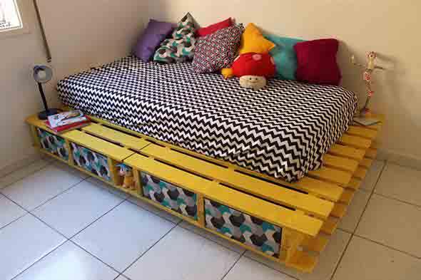 Como fazer uma cama de paletes 010