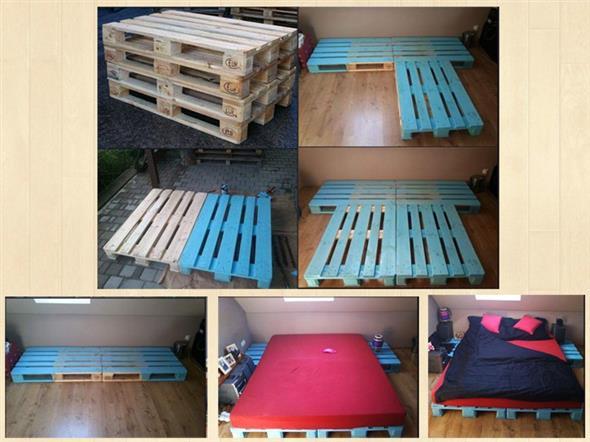 Como fazer uma cama de paletes 015