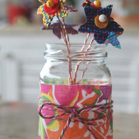 Vasos decorativos para mesa de festa 001