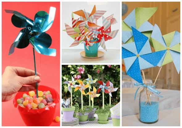 Vasos decorativos para mesa de festa 003