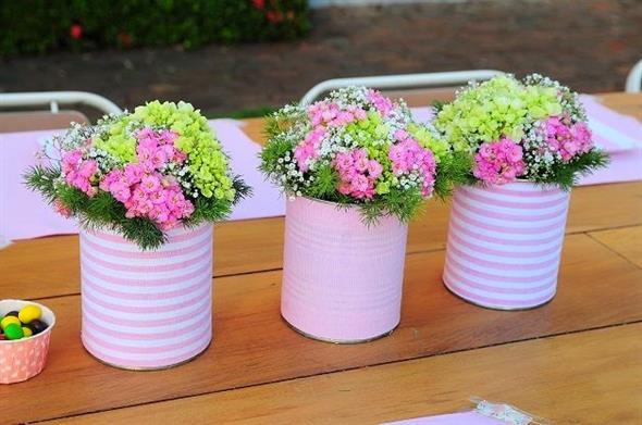 Vasos decorativos para mesa de festa 004