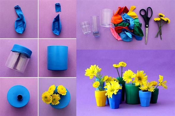 Vasos decorativos para mesa de festa 005