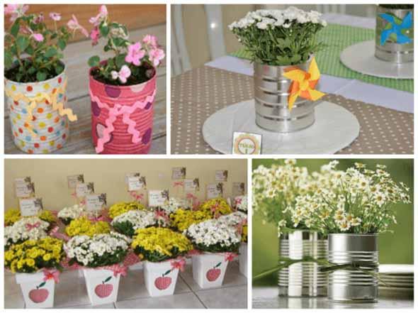 Vasos decorativos para mesa de festa 006
