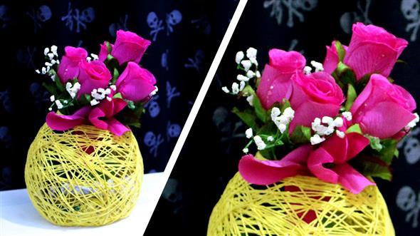 Vasos decorativos para mesa de festa 008