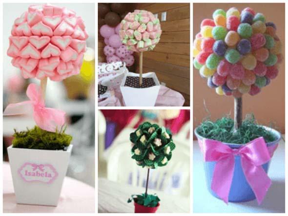 Vasos decorativos para mesa de festa 012