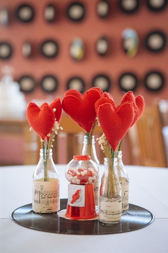Vasos decorativos para mesa de festa 016