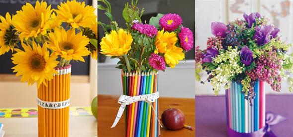 Vasos decorativos para mesa de festa 017
