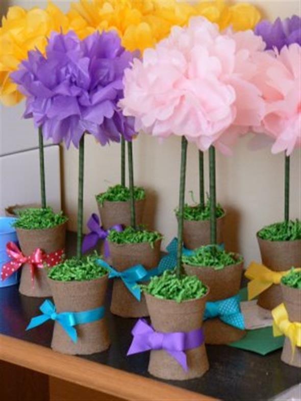 Vasos decorativos para mesa de festa 018