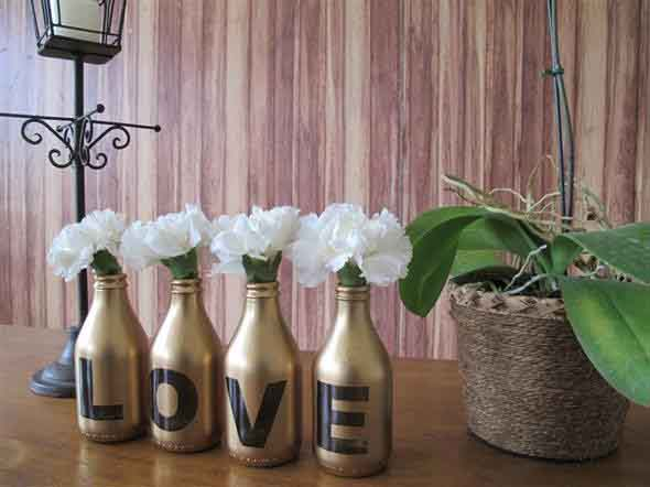 decoração com garrafas de vidro 002