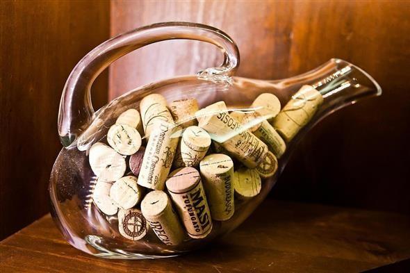 decoração com garrafas de vidro 007