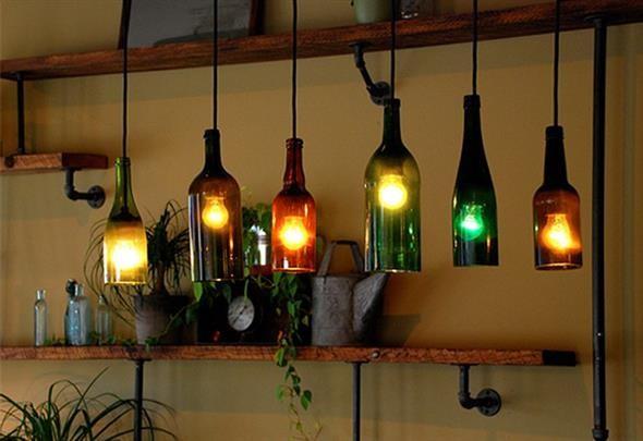 decoração com garrafas de vidro 010