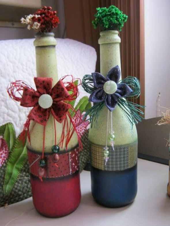 decoração com garrafas de vidro 015