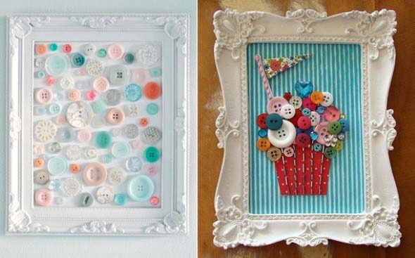 Botões de roupa na decoração 002
