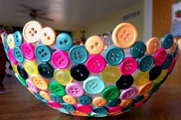Botões de roupa na decoração 007