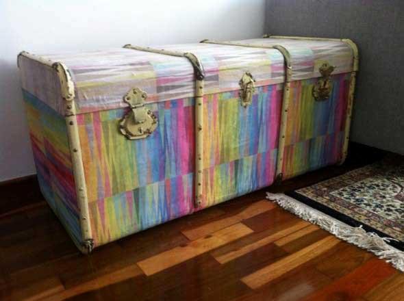 Baús antigos na decoração 012