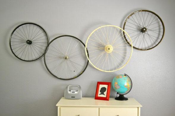 Criatividade com rodas antigas na decoração 002