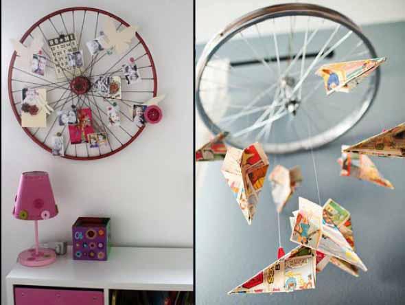 Criatividade com rodas antigas na decoração 003