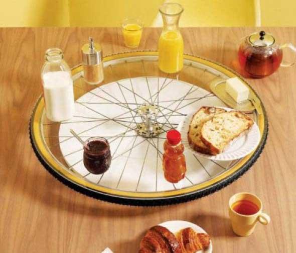 Criatividade com rodas antigas na decoração 005