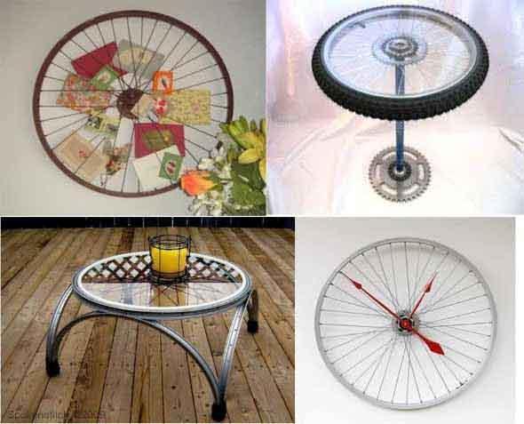 Criatividade com rodas antigas na decoração 008