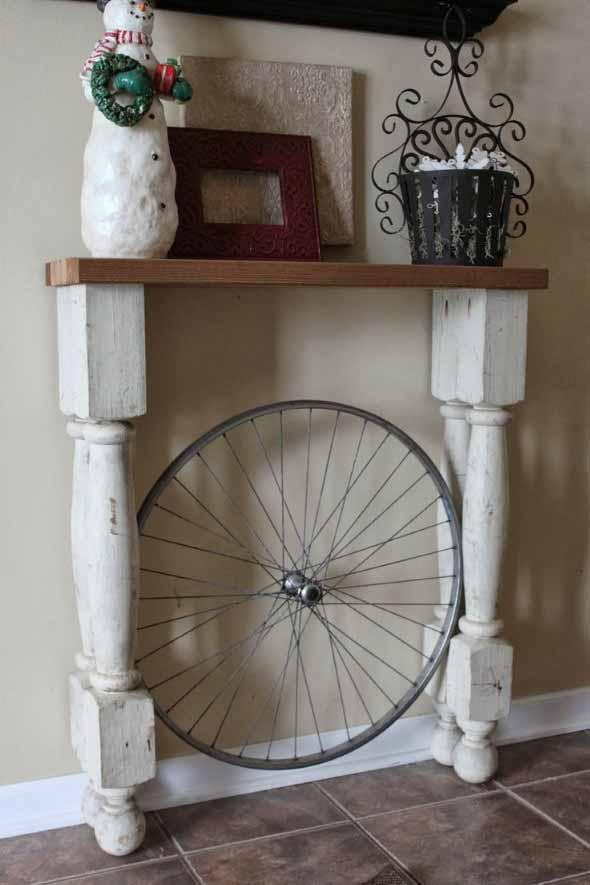 Criatividade com rodas antigas na decoração 016