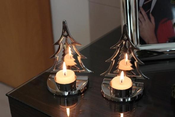 Decoração com lamparinas e castiçais 016