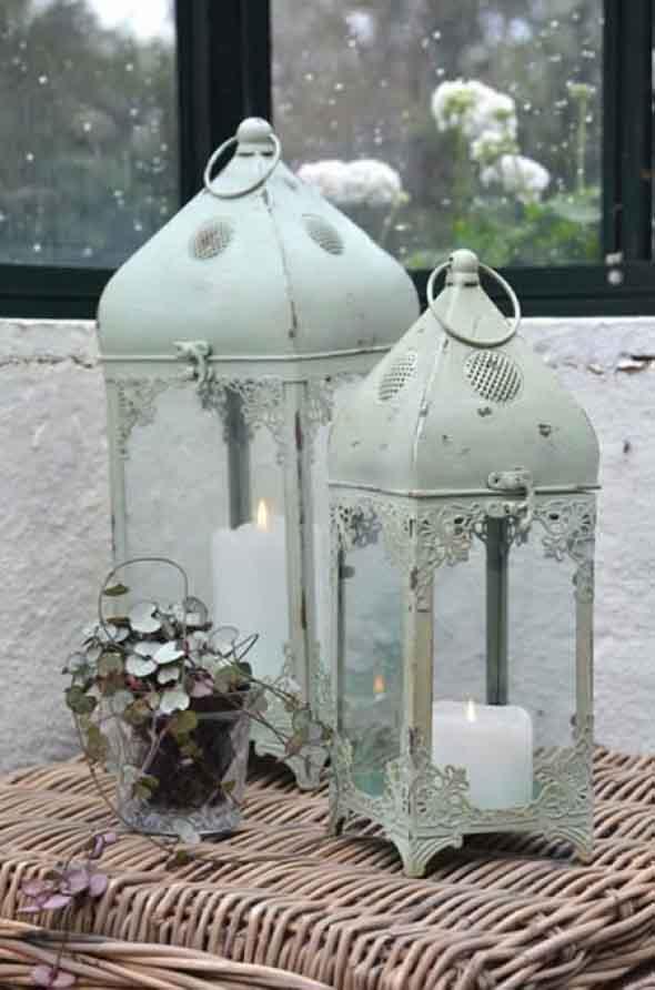 Decoração com lamparinas e castiçais 018