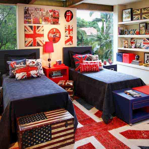 Decorando o quarto com bandeiras 001