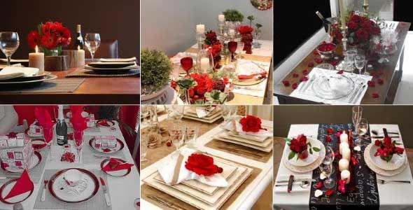 Decorando uma mesa de jantar romântica 003