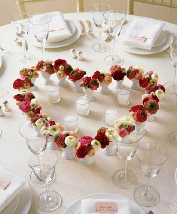 Decorando uma mesa de jantar romântica 004