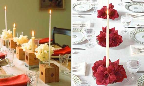 Decorando uma mesa de jantar romântica 005