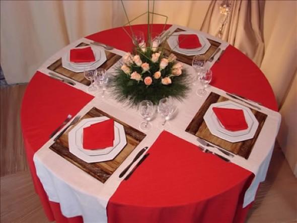 Decorando uma mesa de jantar romântica 008
