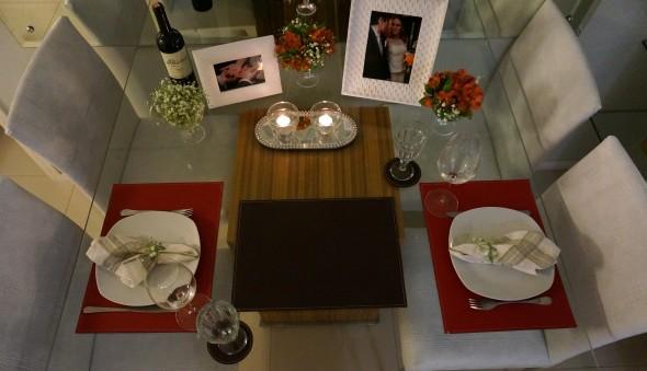 Decorando uma mesa de jantar romântica 011