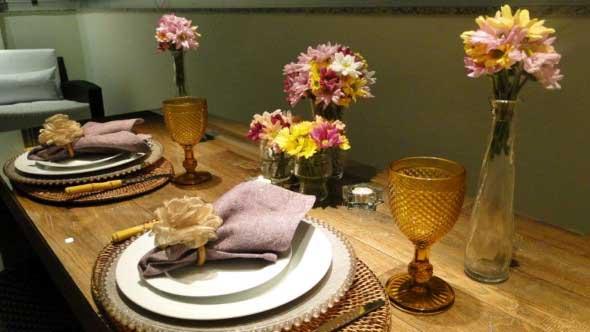 Decorando uma mesa de jantar romântica 013