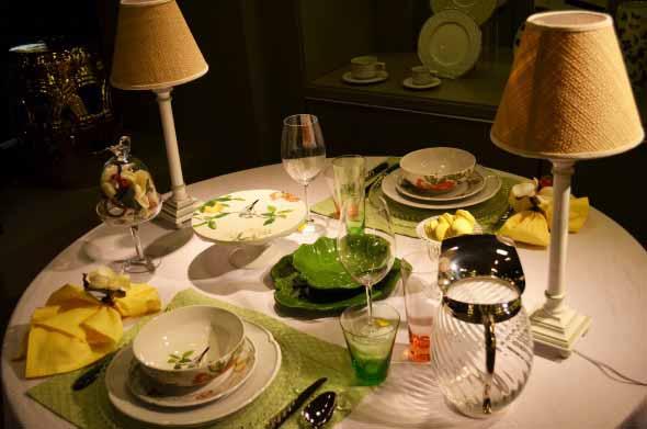 Decorando uma mesa de jantar romântica 014