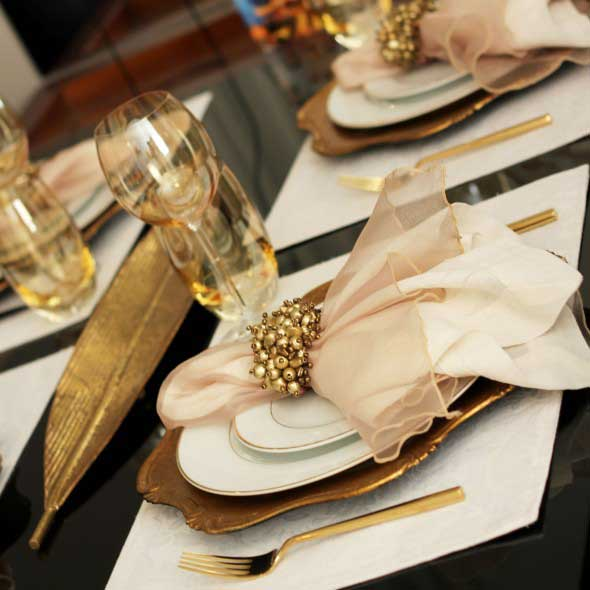 Decorando uma mesa de jantar romântica 017