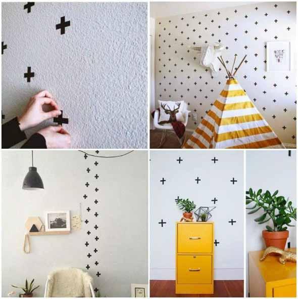 Ideias de decoração com fita isolante 003