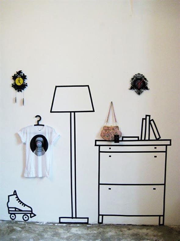 Ideias de decoração com fita isolante 007