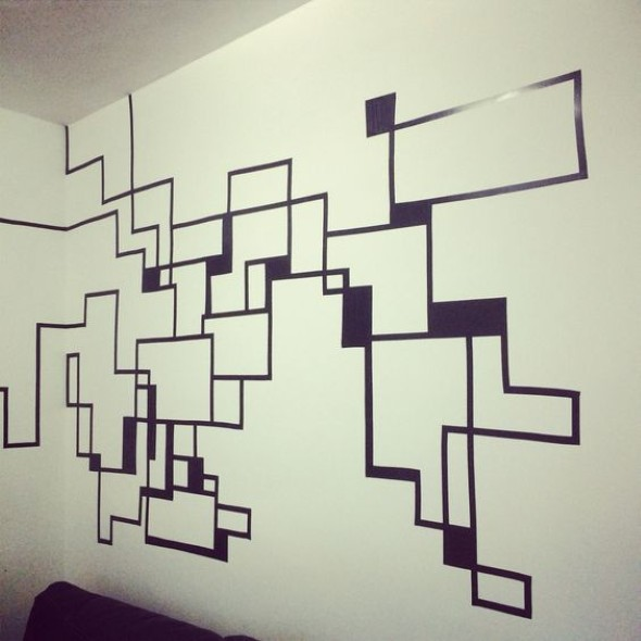 Ideias de decoração com fita isolante 009
