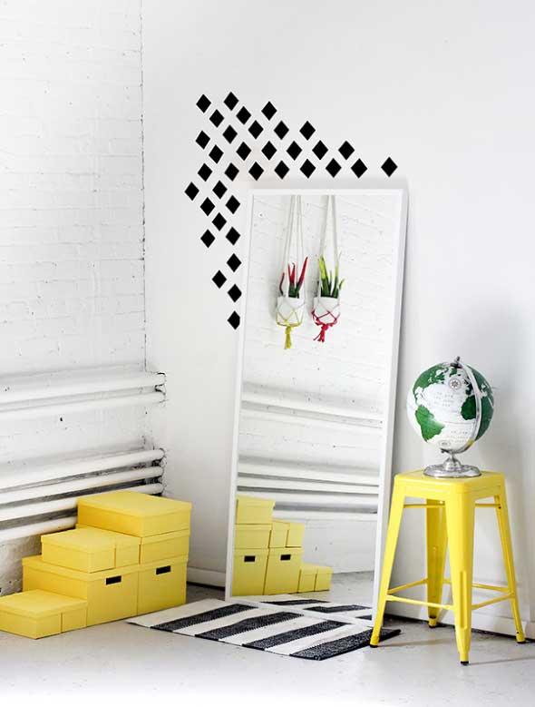Ideias de decoração com fita isolante 016