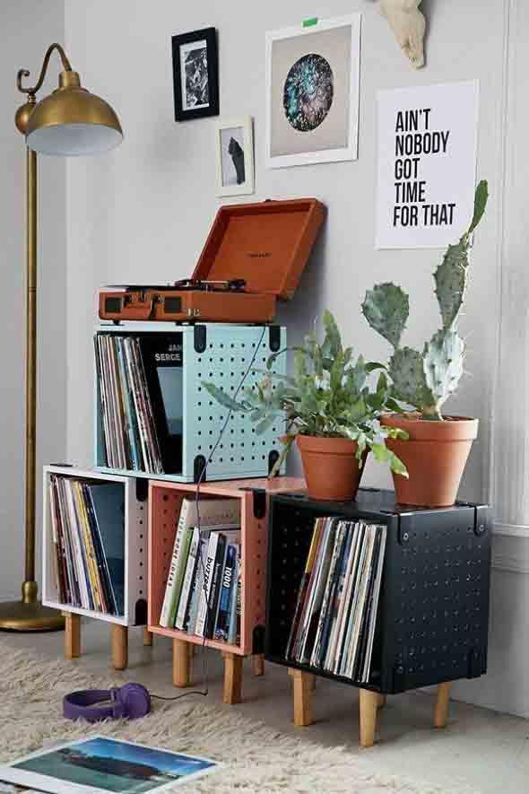 Sala de estar com decoração vintage 001