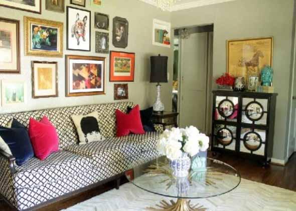 Sala de estar com decoração vintage 002
