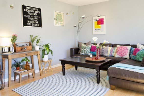 Sala de estar com decoração vintage 005