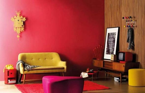 Sala de estar com decoração vintage 016